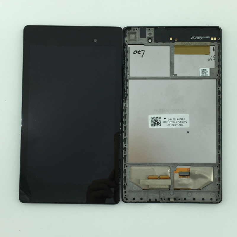 LCD Display Monitor Touch Screen Panel Digitizer Assembly Frame for Asus Google Nexus 7 2nd Gen 2013 ME571K K008 Wifi Version high quality 4 95 for lg google nexus 5 d820 d821 full lcd display touch screen digitizer assembly complete with frame black
