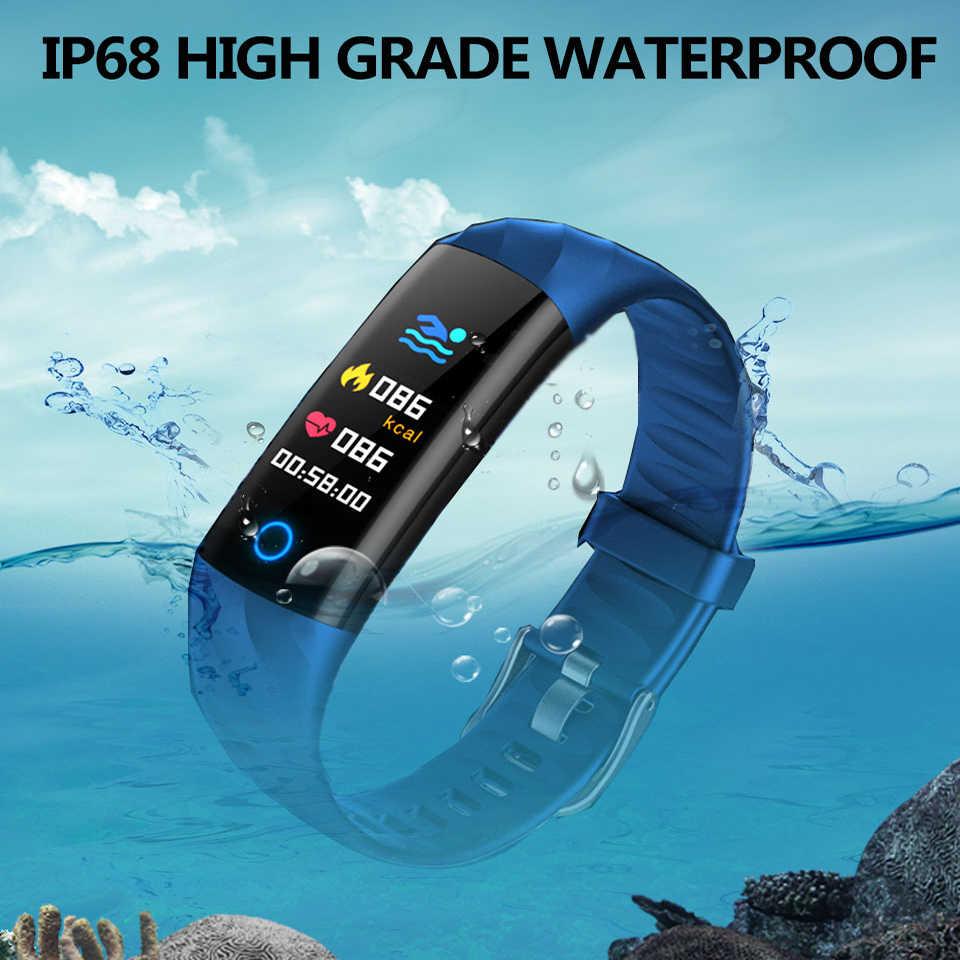 Thông minh IP68 BraceletWaterproof Bước Nhịp Tim Theo Dõi Oxy Trong Máu Theo Dõi Dây Đa Thể Thao Dây Đeo Thông Minh