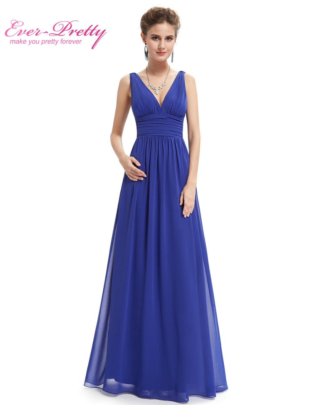 Prom dresses new arrival empire ep09016 ever pretty special occasion dresses v neck elegant long prom