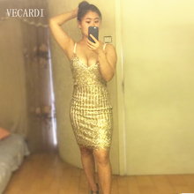 Slim sexy dress sequin summer deep v neck plus size dresses night wear open back party cocktail nightclub lace Package hip dress