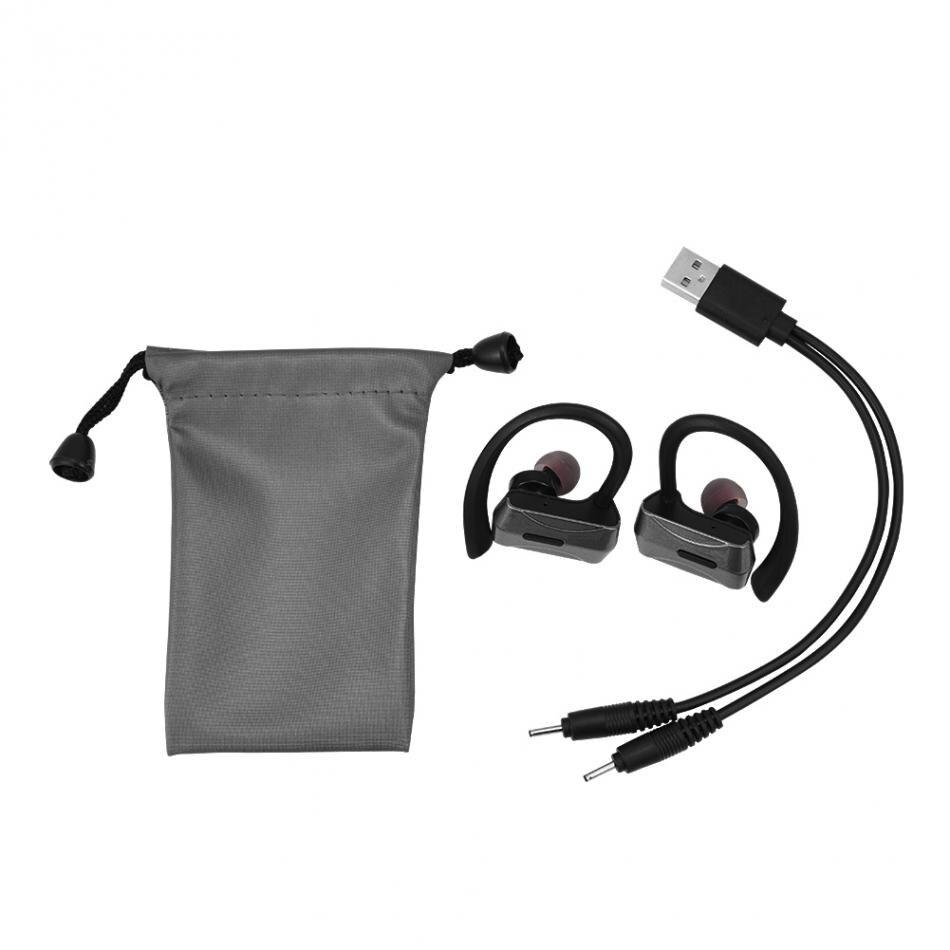 Mini TWS True Wireless Bluetooth Earbuds Sport Stereo Ear Hook Earphones 2018 Noise Cancelling for sports,walking