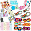 Quilling paper set color paper drawing material package beginners tool Board