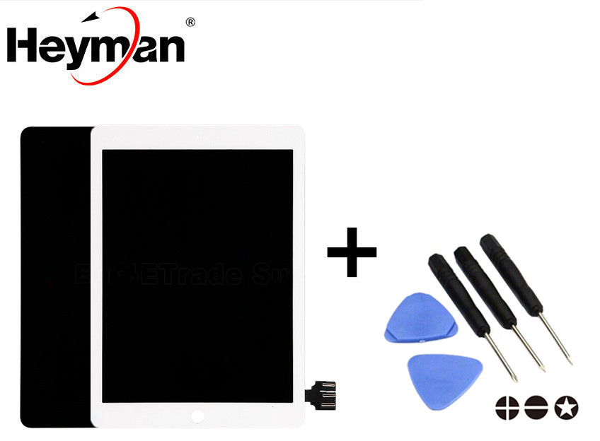 Heyman LCD For Apple iPad Pro 9.7 LCD display screen with Touchscreen Glass Panel Replacement parts Grade S+ lp097qx2 sp av lcd display screens not suitable for ipad 5