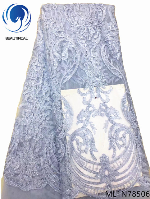 Beautifical french african bridal laces net lace fabrics fabric nigerian quality lace fabric african 5yards/lot for lady ML1N785