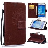 Brown PU Leather Case for Samsung Galaxy J5 Flip Case Luxury Wallet Style Phone Covers With Stand and Card Holder 10 Colors
