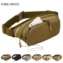 Outdoor Sport Waist Bag Functional 1000D Nylon Phone Belt Bag Crossbody Bag