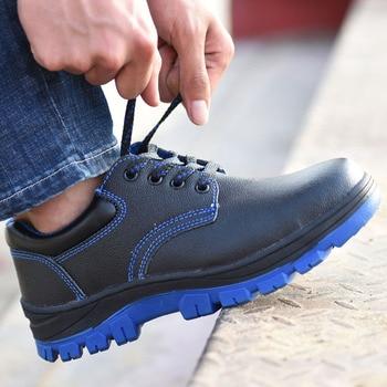안전 신발 모자 강철 발가락 안전 신발 부츠 남자 작업 신발 남자 방수 크기 12 신발 겨울 내마 모성 gxz531