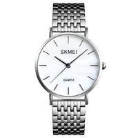 Classic Women's Watch Luxury Quartz Silver White Female Ladies Dress Wrist Watches Stainless Steel Band Shell Dial Women Clock