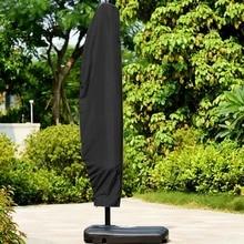 Пылезащитный чехол аксессуары водонепроницаемый Оксфорд Регулируемый эластичный ремешок ткань открытый банановый зонтик крышка Черный цвет