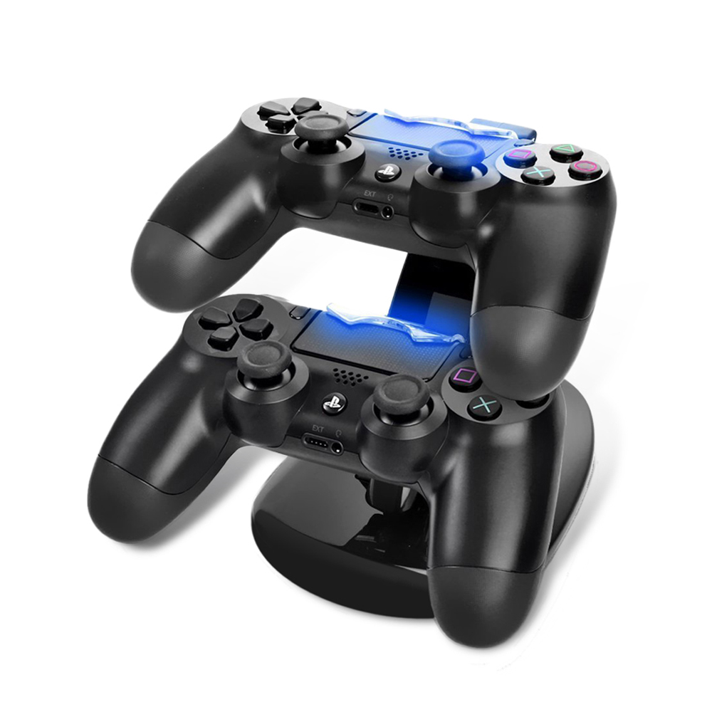 High Speed Dual Controller Charger Station for Sony PlayStation 4 PS4 USB Charging Adapter Cradle PS4 Gaming Controller Charger