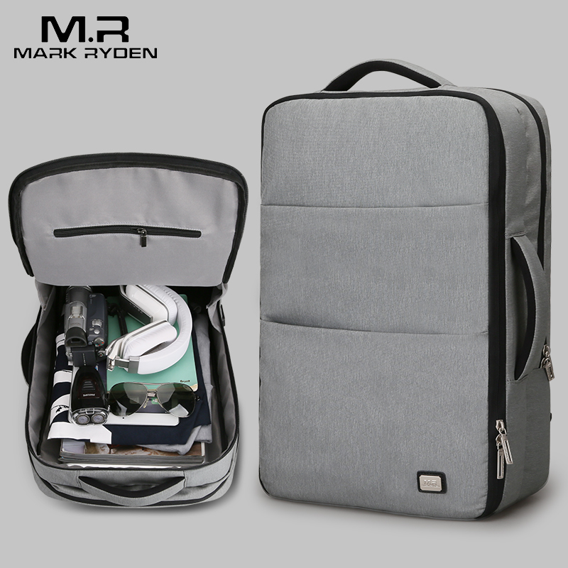 Mark Ryden New Large Capacity Man Backpack Waterproof USB Design 17 inch Laptop Bags Male Short