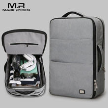 Mark Ryden New Large Capacity Man Backpack Waterproof USB Design 17 inch Laptop Bags Male Short Trip Travel Bag(China)