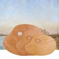 Sealed Oil Oval Oil Painting Palette Beautiful And Durable Acrylic Solid Wood Quality Simple Art Painting Tools Color Board