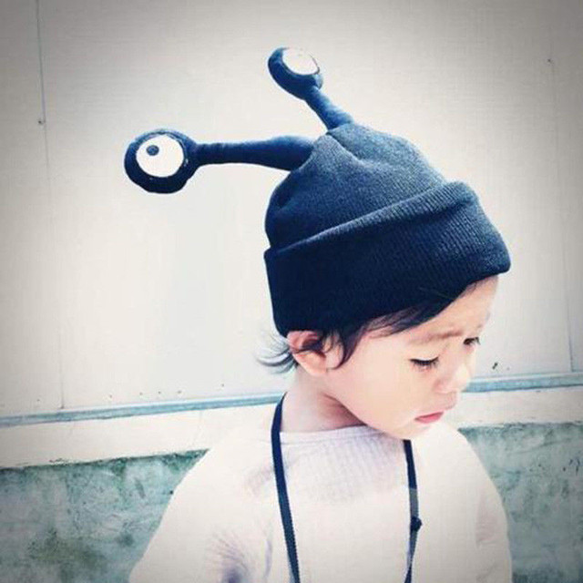 02bc765f73c Cute Toddler Baby Kids Girl Boy Insect Eye Antenna Knitted Winter Warm Hat