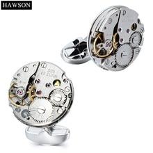 HAWSON Mechanical Watch Mens Cufflinks Wedding Party Gift No
