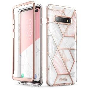 Image 2 - Pour Samsung Galaxy S10 Plus étui 6.4 pouces i blason Cosmo coque en marbre à paillettes sans protection décran intégrée
