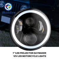 7 Motorcycle LED Headlight Replacement LED Lighting Projector 7 Inch LED Projector For Harley Davidson