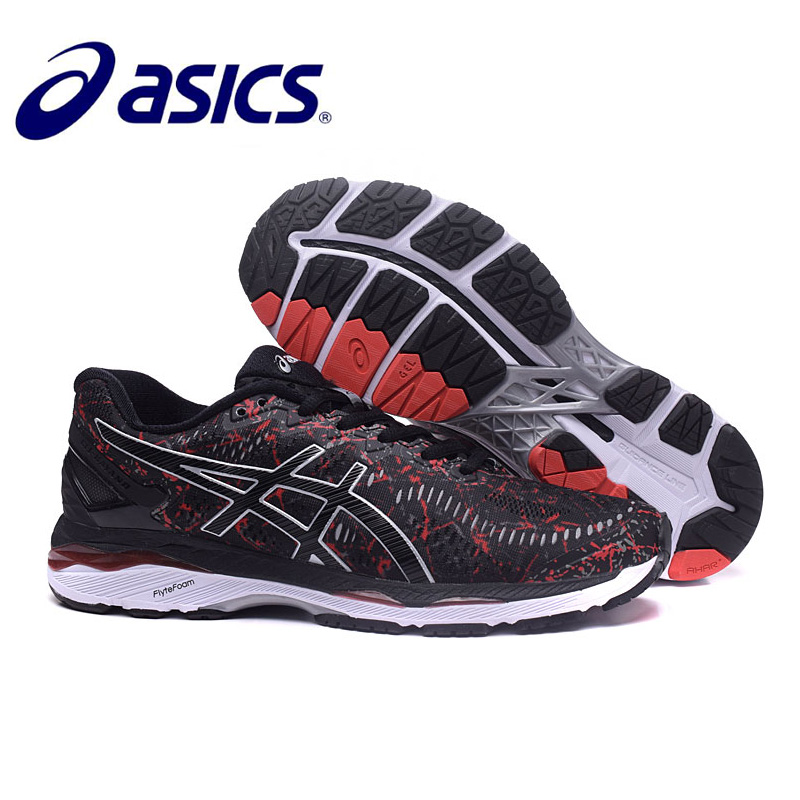 2018 Original ASICS GEL KAYANO Night Running Athletic Men Shoes Unisex 40 45 Size Sport Shoes