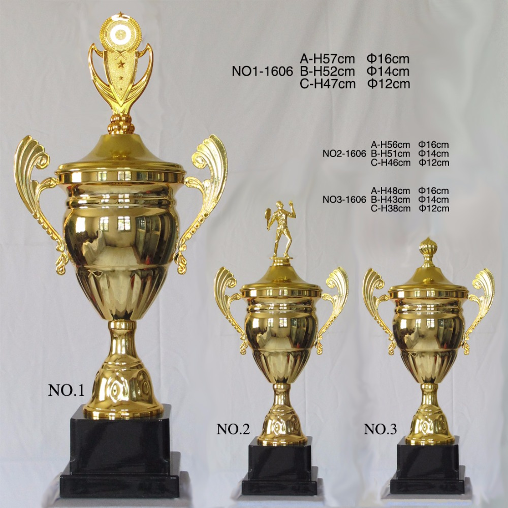 ФОТО 1606 new style Gold Plated Metal Trophy  Trophies and Awards  Sports Trophies  sport  award  47CM   souvenir