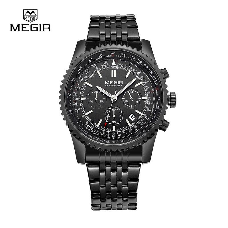 MEGIR 2008 fashion mens quartz wristwatch men's luxurious business waterproof watch 2008