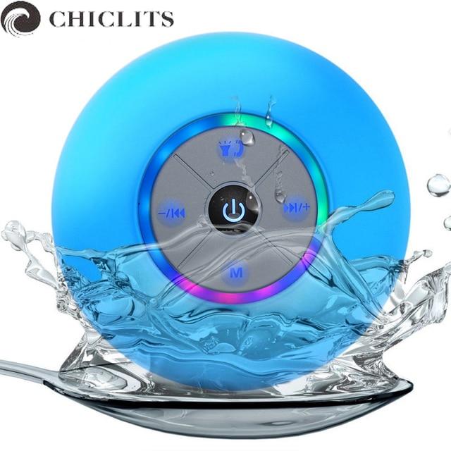 Chiclits Беспроводной Bluetooth Колонки Водонепроницаемый душ переносной bluetooth приемник всасывания автомобиль музыка играет Altavoz Bluetooth