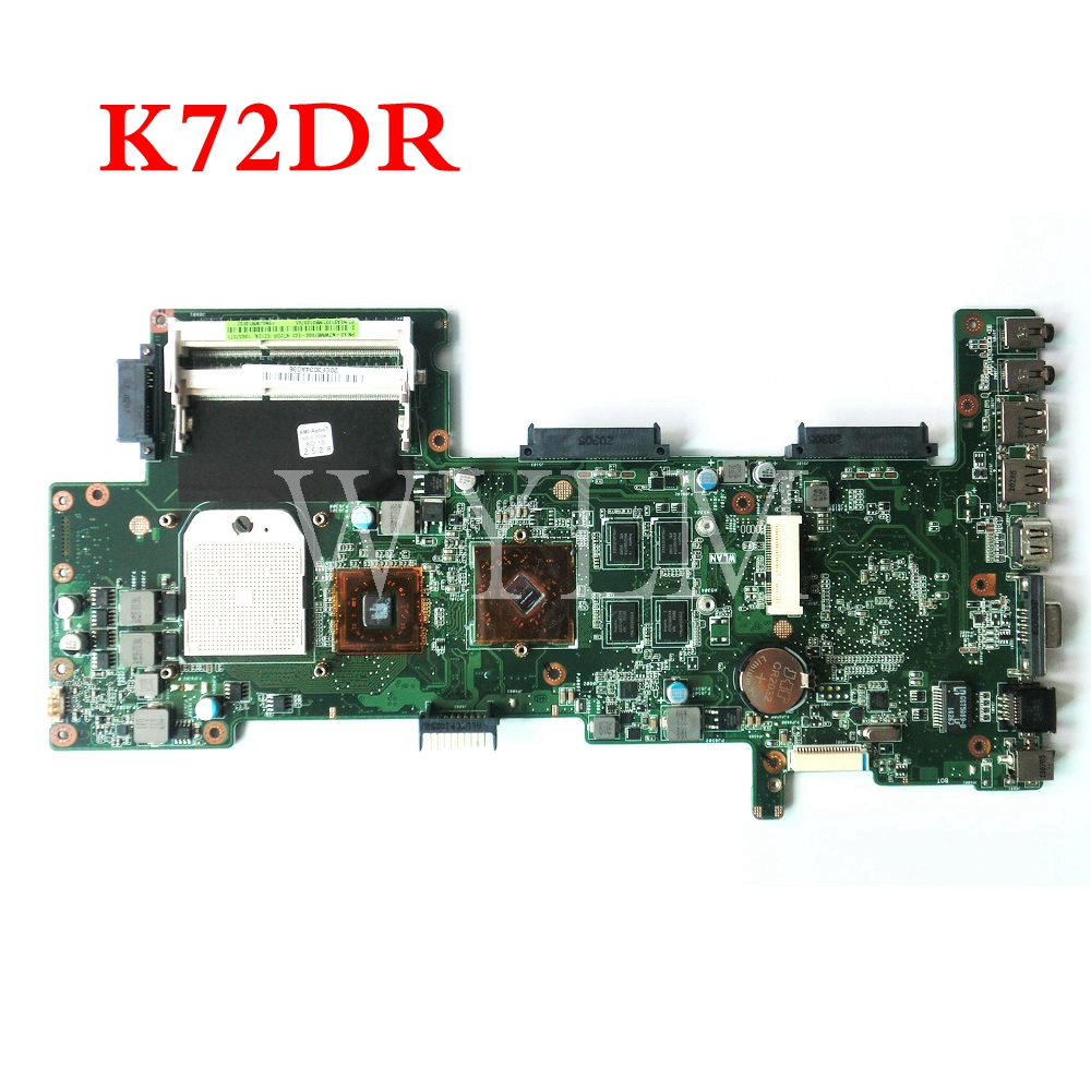 K72DR mainboard REV 3.0 For ASUS X72D K72D K72DR K72DY A72D Laptop motherboard 60-NZWMB1000-E02 100% Tested Working стоимость