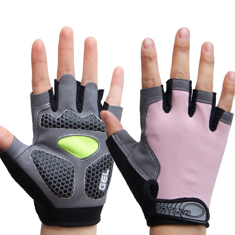 running - Outdoor Sport 3D Silicone GEL Padded Gloves for Men Women's Gym Fitness Workout Running Jogging Exercise Body Building Training