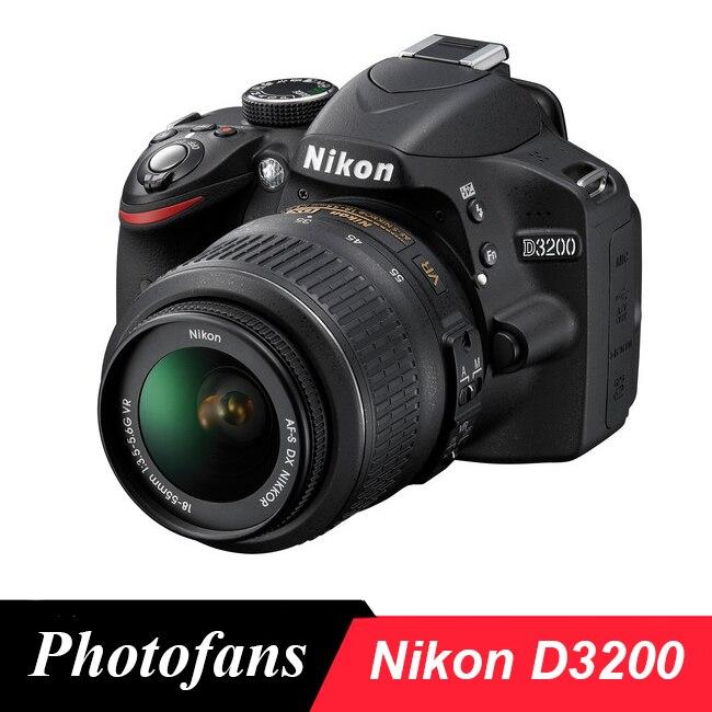 Câmera nikon d3200 dslr com 18-55 lente-24.2mp-vídeo (novo)
