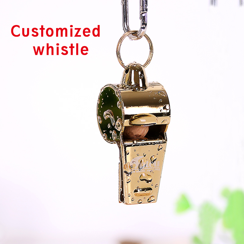 High Quality pure copper Referee Whistle for Camping Soccer Basketball Sports Whistle with  lanyard for Emergency Survival