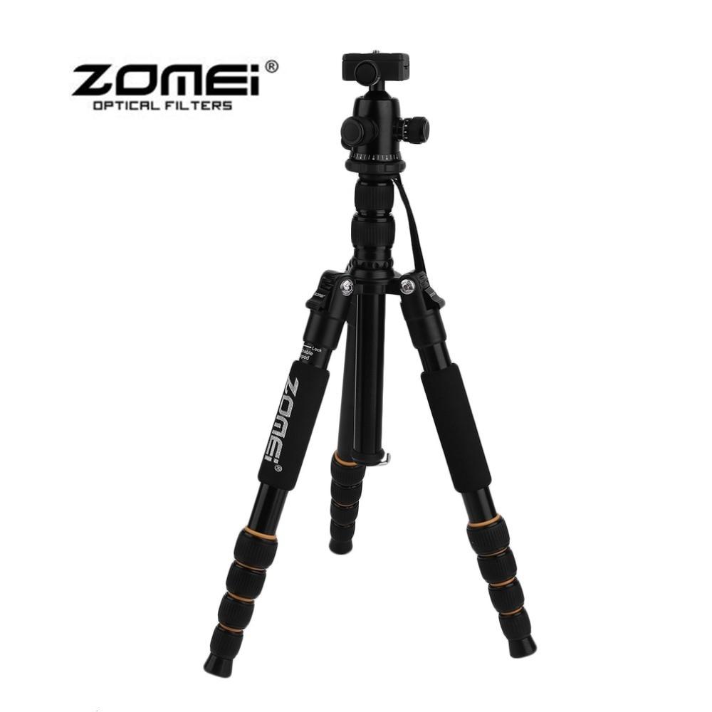 Фотография Zomei Q666 Portable Professional Lightweight DSLR Camera Camcorder Tripod Ball Head Bracket Stand For Travel Photography