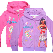 Moana Kids Girls hoodies children spring and autumn new jacket children sweater cardigan jacket Clothes for girls coat H936