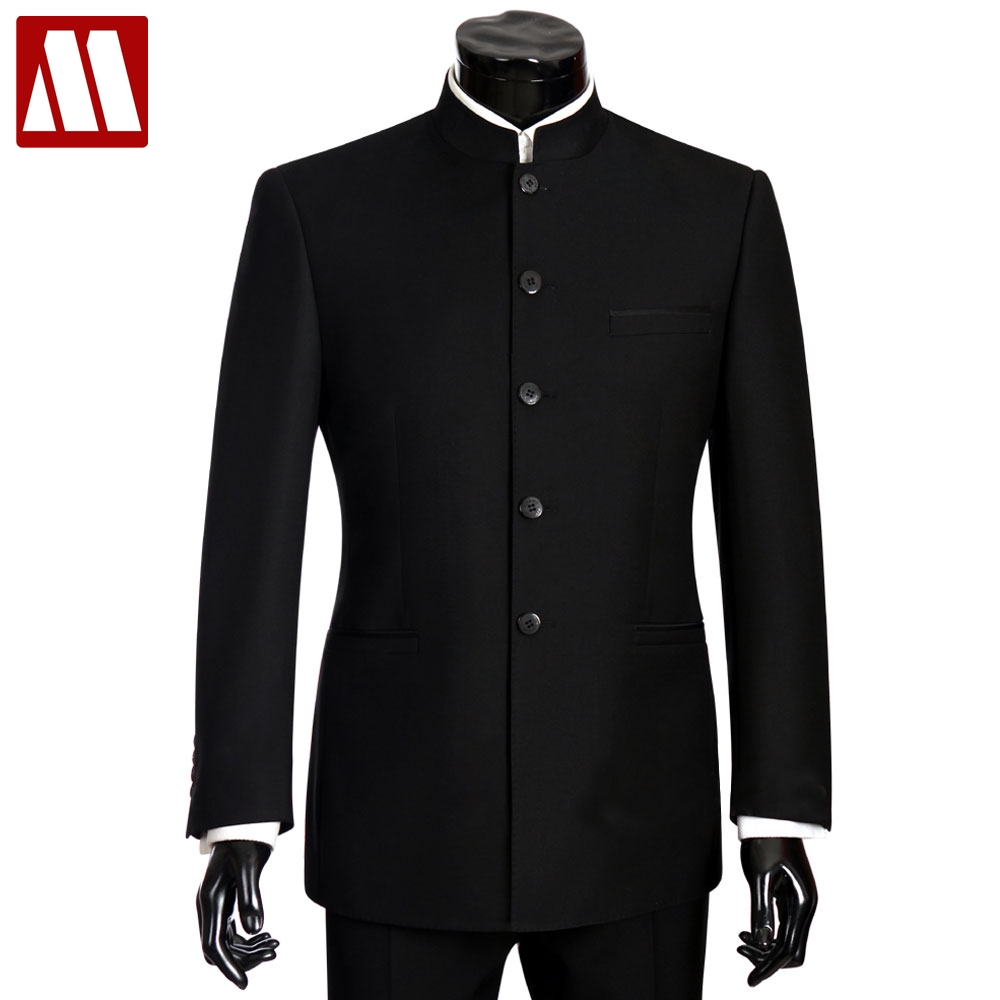 Embroidery Casual pants Suit discount Stand collar Long sleeve Loose coat