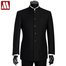 Male Suit Tuxedo Blazer Jacket Mandarin-Collar Wedding-Terno Chinese Pant Slim-Fit 2pieces
