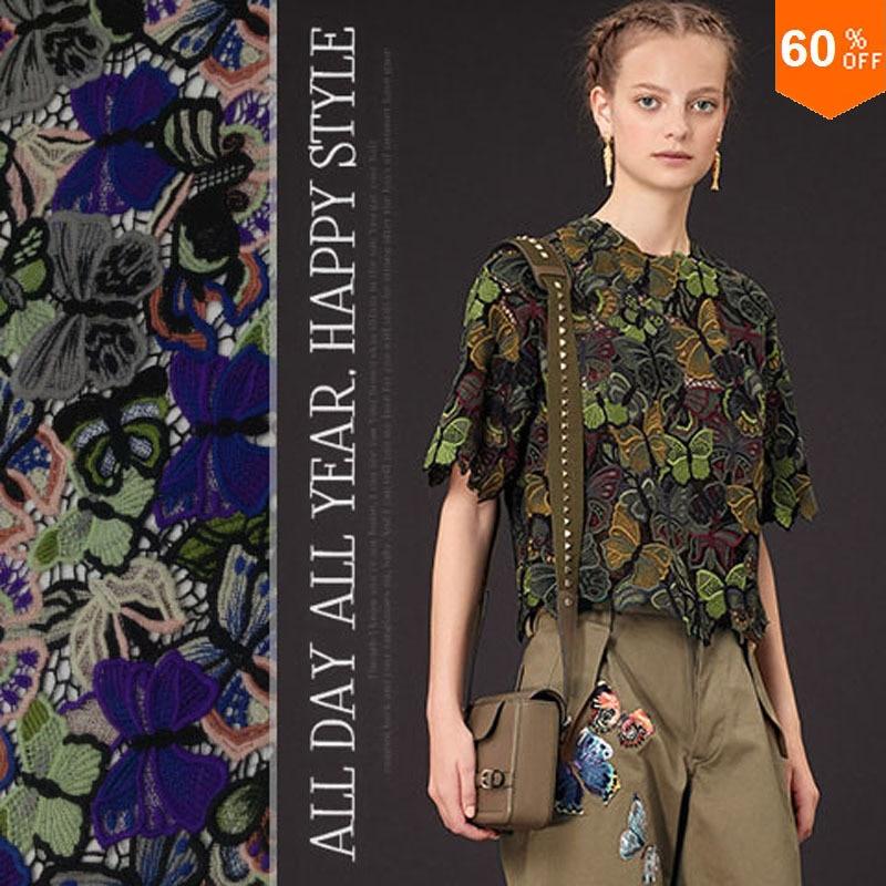 Luxus színes pillangók hévírozott szövet / hímzett háztartási - Művészet, kézművesség és varrás