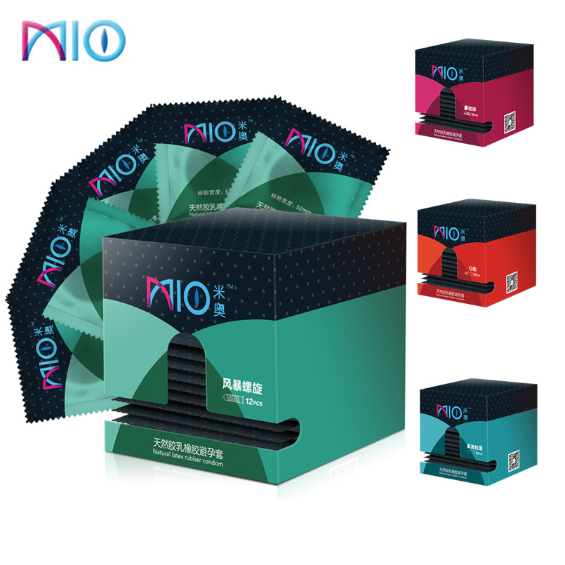 MIO 60/14pcs Thread Condoms 4 Styles Rose Pattern Adult Sex Products Ultra Thin Natural Latex Condoms For Men Sex Toys Tool Shop