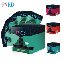 MIO 60/14pcs Thread Condoms 4 Styles Rose Pattern Adult Sex Products Ultra Thin Natural Latex For Men Toys Tool Shop