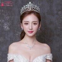 Wedding Bride Crystal Crown Hot Headband wedding accessories pamelas y tocados para bodas Fashion in Stock DQG547