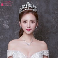 Wedding Bride Crystal Crown Hot Headband wedding accessories pamelas y tocados para bodas Fashion in Stock DQG547