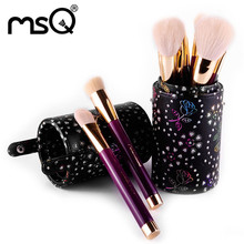 High Quality  15pcs Professional Soft Cosmetic Eyebrow Shadow Makeup Brush Set Kit Pen Holder
