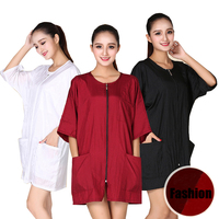 NEW Pro Hairdressing Beauty SPA Gown Zipper Robe Hair Capes Styling Barber Salon Hairdresser Wraps G0316