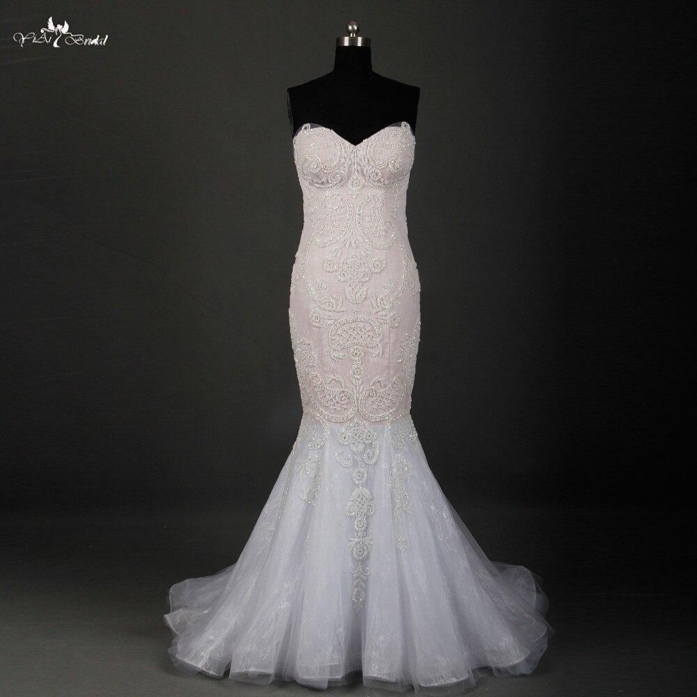 Rsw770 luxury detachable skirt wedding dresses mermaid for Mermaid wedding dress with detachable train