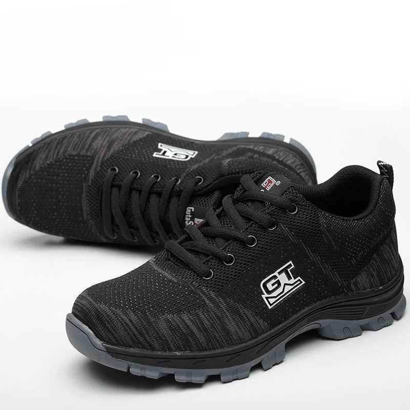 Mannen Plus Size Ademend Mesh Stalen Neus Outdoor Veiligheidsschoenen Mannen Industriële & Bouw Punctie Proof Werkschoenen