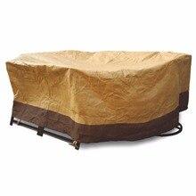 """60 """"Wasserdicht Ovale/Rect Terrasse tisch Abdeckung Möbel Schutz Stühle W51766"""