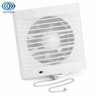 16W 220V 5 Inch Household Window type Silent Extractor Exhaust Fan Hotel Glass Windows Wall Kitchen Bathroom Ventilation Fan