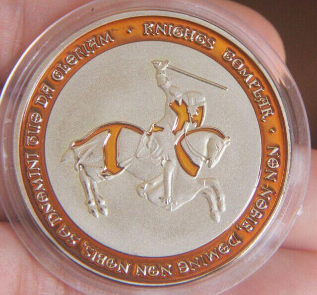 Wohnkultur Erfinderisch Gelb Horseman Silber Überzogene Münze Ritter Ordre Du Tempel Silber Überzogene Münze Reichhaltiges Angebot Und Schnelle Lieferung