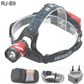 ZOOM Boruit CREE LED Head lamp rechargeable zoom LED light High 18650 Battery OR 3pcs AAA Battery WIth usb cable charger