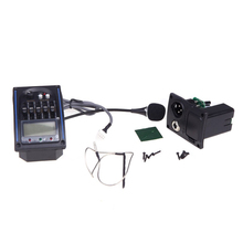 ADDFOO EQLC-5 5-Band EQ Equalizer System Acoustic Guitar Preamp Piezo Pickup LCD Screen Tuner
