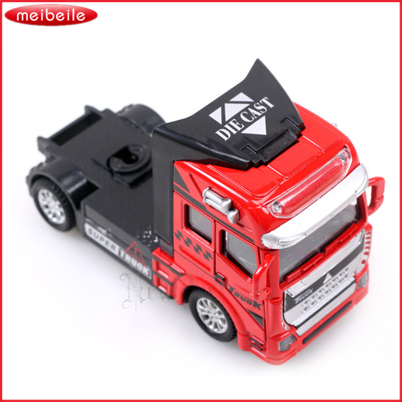 Childrens favorite 1:50 Alloy Car Model Toy Truck Stall Selling Toy Container Car