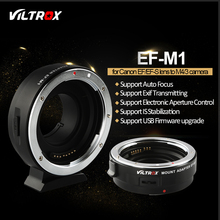 Viltrox EF-M1 Auto Focus Exif Lens Adapter for Canon EOS EF EF-S Lens to M4/3 Camera GH4 GH5 GF6 GF1 GX1 GX7 E-M5 E-M10 E-PL5 mcoplus ec snf e s auto focus electronic adapter ring for nikon f mount lens transfer to sony e mount camera