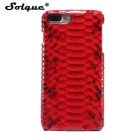 Natural Real Genuine Leather Cover Case For IPhone 7 6 6S Plus Case 3D Python Skin
